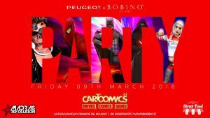 9 marzo 2018 cartoomics flyer